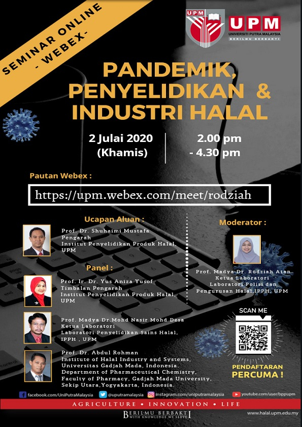 -Webex- Online Seminar: Pandemic, Research & Halal Industry