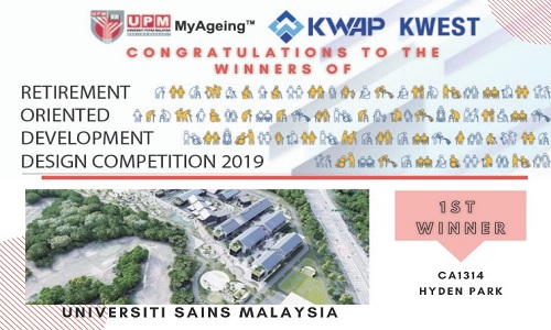 USM wins the Retirement-Oriented Development Design Competition 2019 (RODDC2019)